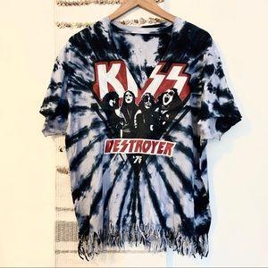 Kiss • Distressed Tie Dye Band Tee